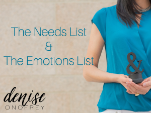 The Emotions and Needs Lists